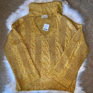 NWT Urban Outfitters V Neck Turtleneck Sweater